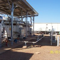 Remote natural gas fired prime power installation in WA.