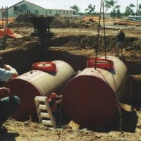 Installation of double containment diesel fuel tanks in NT.