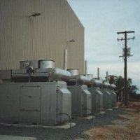 Multiple diesel generators provide grid augmentation for remote cotton processing plant.